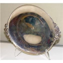 Art Nouveau Sterling Silver Plate Floral Tray #2379493
