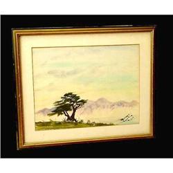 20th Century watercolor painting landscape #2379495