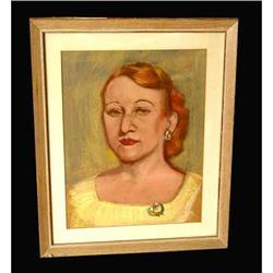 20th century American pastel painting Female  #2379496