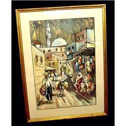 Mixed Media Jerusalem  Old City Oil Painting #2379500