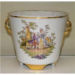 Freiberger German Porcelain Cache Pot Garden #2379501