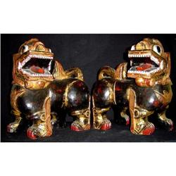 Pair of  Antique Chinese Fu Dogs #2379514