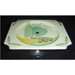Art-Deco Staffordshire Footed Dish #2379521