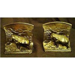 Pair of Antique  Elephant Bookends #2379538
