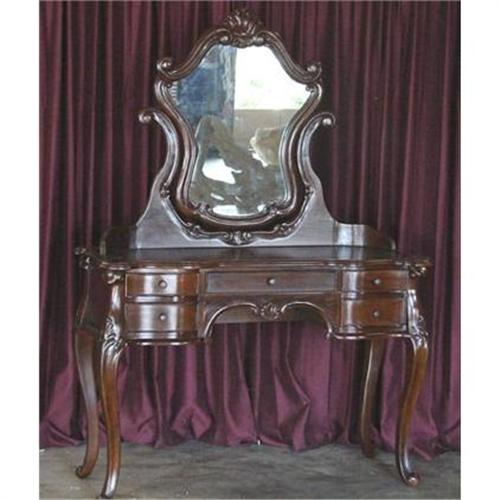 Antique French Victorian Vanity Table W Mirror 2372723