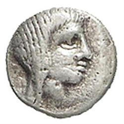 Tracia  Saratokos (ca. 400 a.C.) Triemiobolo.
