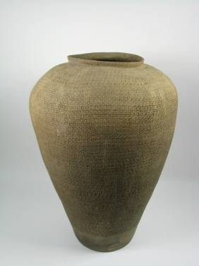 A SUPERB WARING STATES STYLE CERAMIC VESSEL,