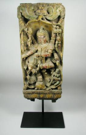 A FINE NORTH INDIAN TEMPLE PANEL, c.19th Cent