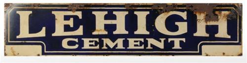 Porcelain Lehigh Cement Sign