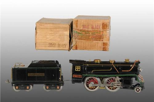 Lionel No  384 Standard Gauge Engine & Tender OB