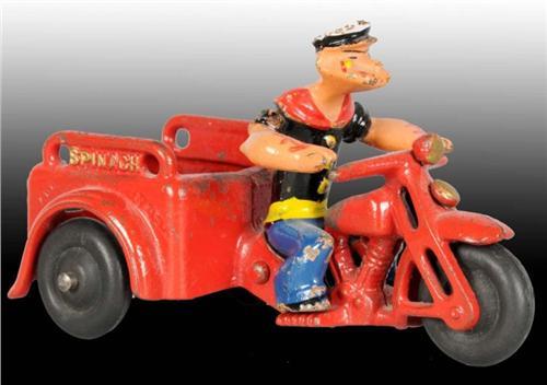 Cast Iron Popeye On Motorbike