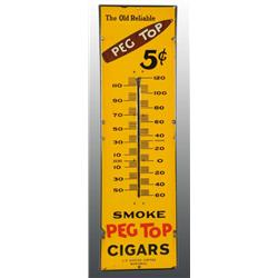 Porcelain Peg Top Cigars Thermometer.