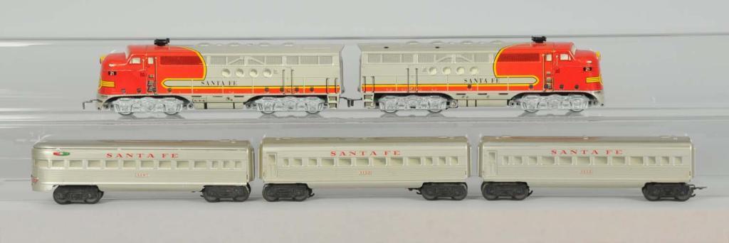 Marx O-Gauge Santa Fe Diesel Passenger Set