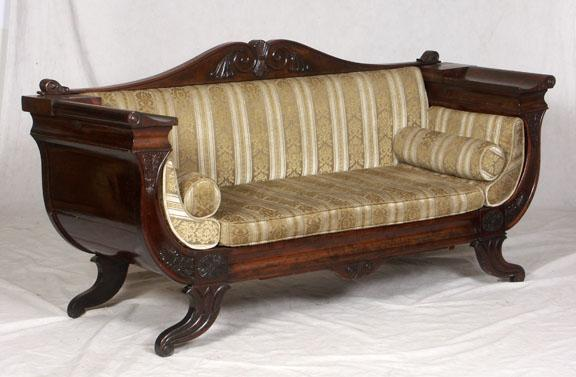 sofa classic empire style scroll arm rh icollector com french empire style sofa