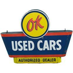 OK Used Cars Authorized Dealer Double Sided Porcelain S