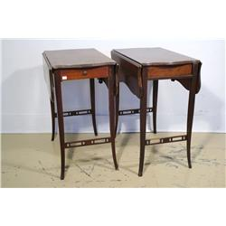 A pair of Georgian Style mahogany Pembrook tables.