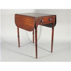 An early 19th Century Regency mahogany Pembroke table,