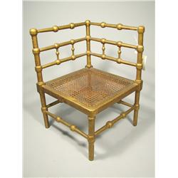 A Regency style giltwood caned-seat corner child's chair,