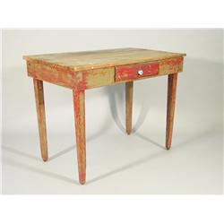 A 19th Century American painted pine work table.