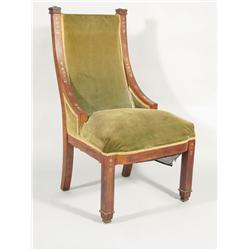 A 20th Century walnut Arts and Crafts chair.