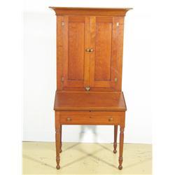 A 19th Century walnut plantation desk,