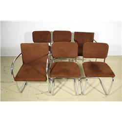 A set of six Brno Tugendhat Arm Chairs by Mies van der Rohe