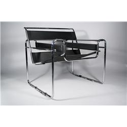 A Reproduction Wassily Lounge Chair by Breuer for Knoll,