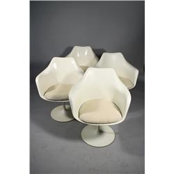 A set of four Tulip arm chairs by Saarenin for Knoll,