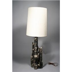 A Contemporary earthenware table lamp,