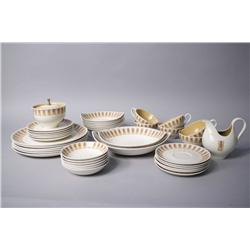 A Taylor Smith and Taylor dinner service for six,