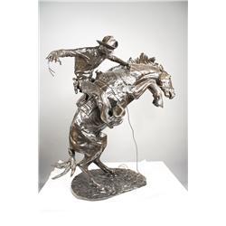 Frederic Remington (American, 1861-1909) Bronco Buster, Larg