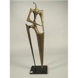 Ralph Nudds, Female Figure, Metal sculpture.