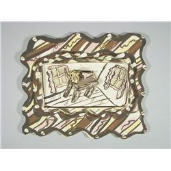 Artist Unknown (20th Century) Ceramic Abstract.