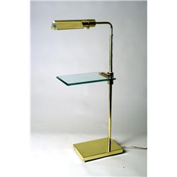 A Contemporary Brass and Glass Table Lamp.