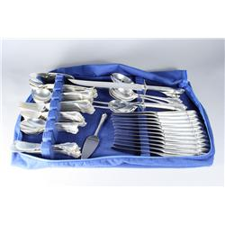A set of Wallace Grand Colonial sterling silver flatware ser