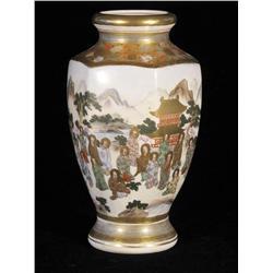 A Japanese porcelain Satsuma Vase.