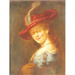 A Fine Meissen Porcelain Portrait Plaque.