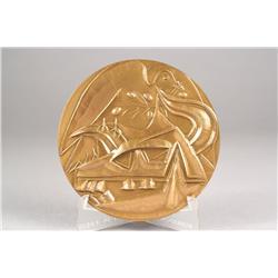 J. C. Lallement, Pablo Picasso brass medallion.