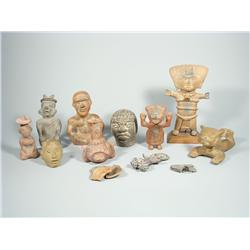 A collection of South American decorative items.
