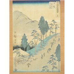 Utagawa Hiroshige (1797-1858) Station 26 Nissaka of the fift
