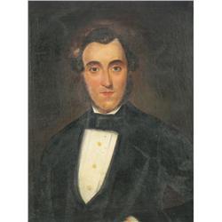 Artist Unknown (19th Century) Portrait of a Gentleman, Oil o