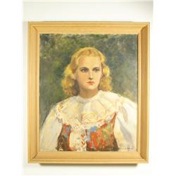Bernard Wynne, Portrait of a Lady, Oil on canvas,