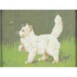Gabriella Rainer-Istavanny (Hungarian, 1877-1965) Kitten and