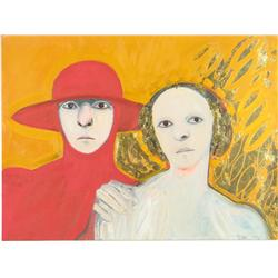 Selina Trieff (American, 20th Century) Two Portraits, Mixed