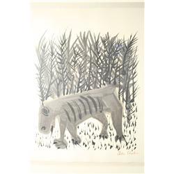 Ben Shahn (American, 1898-1969) Tiger, Lithograph,