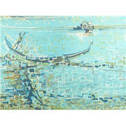 Francoise Gilot (French, b.1921) Gondola, Lithograph,