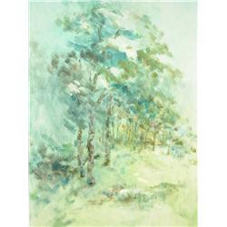 "Helen Talvacchio (American, 20th-century) ""Shades of Green"""