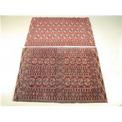 Two 20th Century Pakistan Turkoman Tekke style rugs.
