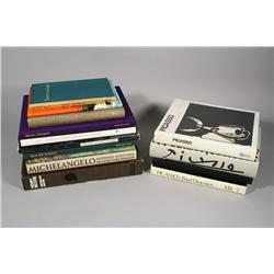 A collection of books pertaining to Art,