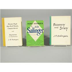 A group of three books by J.D. Salinger,